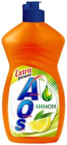 AOS средство для мытья посуды Лимон 450мл
