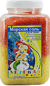 АРОМИКА Соль для ванн банка Детская с Календулой 900гр