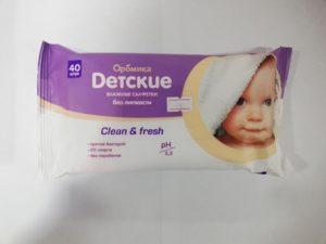 Аромика Влажные Салфетки Детские Clean&Fresh 40шт