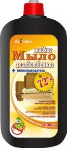 Аромика Хозяйственное Универсальное Жидкое мыло + пятновыводитель 72% Антибактериальное 1100мл
