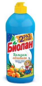 Биолан жидкость для мытья посуды Бальзам Облепиха 450гр