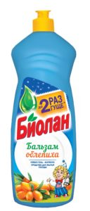 Биолан жидкость для мытья посуды Бальзам Облепиха 900гр