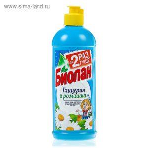 Биолан жидкость для мытья посуды Глицерин и ромашка 450гр