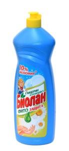 Биолан жидкость для мытья посуды Глицерин и ромашка 900гр