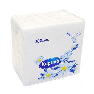 КАРИНА Салфетки Белые 100шт