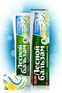 Лесной бальзам зубная паста 3в1 Отбеливающая 130мл