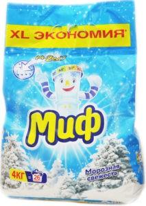 МИФ Порошок стиральный авт 3в1 Морозная свежесть 4кг
