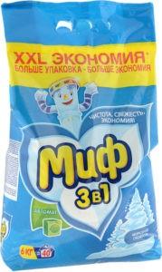 МИФ Порошок стиральный авт 3в1 Морозная свежесть 6кг