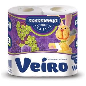 Полотенца бумажные кухонные Veiro Classic 2рул
