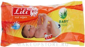 Салфетки влажные ТМ Lili для детей с экстрактом алоэ вера 20шт