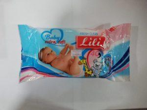 Салфетки влажные ТМ Lili для детей с экстрактом календулы и витамина е 40шт