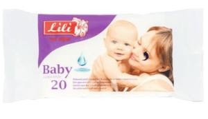 Салфетки влажные ТМ Lili для детей с экстрактом ромашки (белая) 20шт