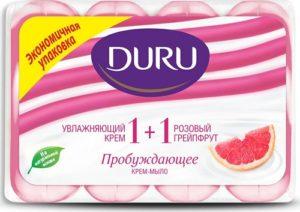 Туалетное мыло DURU SOFT SENS PINK GRAPEFRUIT (Грейпфрут)ЭКОПАК 4х90гр