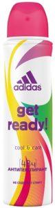 ADIDAS Дезодорант Cool & Care Woman APD Spray get ready 150мл