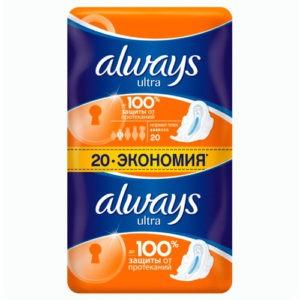 ALWAYS Ultra Женские гигиенические прокладки Normal Plus Duo 20шт