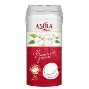 AMRA Диски косметические круглые 80шт