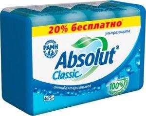 Absolut Мыло туалетное Classic Ультразащита 4х75гр