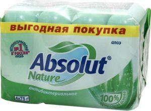 Absolut Мыло туалетное Nature Алоэ 4х75гр