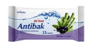 Antibak Влажные салфетки Бамбук и Олива 15шт