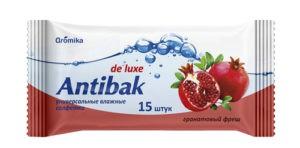 Antibak Влажные салфетки Гранатовый Фреш 15шт