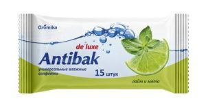 Antibak Влажные салфетки Лайм и Мята 15шт
