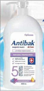 Antibak De Luxe Жидкое мыло Антибактериальное Ультразащита 800мл