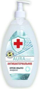 Aura Clean Жидкое Крем-мыло Антибактериальное (без дозатора) 1000мл