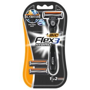 BIC Flex 3 Hybrid Бритва с 2 сменными кассетами