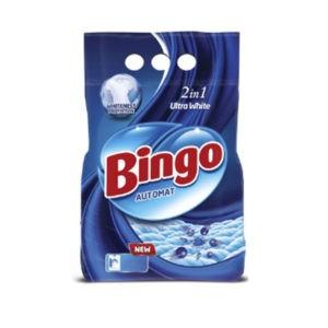 BINGO Порошок стиральный автомат ULTRA WHITE 1.35кг