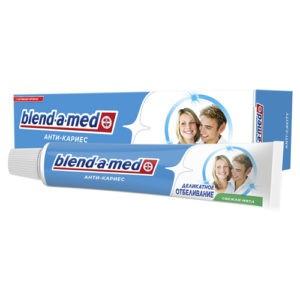 BLEND A MED Зубная паста АнтиКариес Деликатное Отбеливание Свежая Мята 100мл