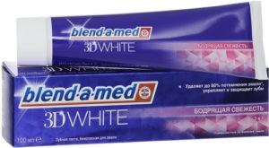 BLEND A MED Зубная паста 3D White Бодрящая свежесть 100мл