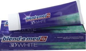 BLEND A MED Зубная паста 3D White Нежная мята 100мл