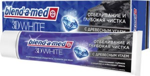 BLEND A MED Зубная паста 3D White с Древесным Углём 100мл