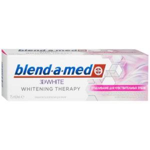 BLEND A MED Зубная паста 3D White Whitening Therapy Отбеливание для чувствительных зубов 75мл