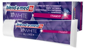 BLEND A MED Зубная паста 3d White Luxe Glamour 75мл