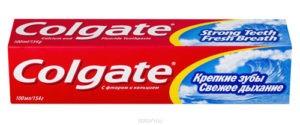Colgate зубная паста крепкие зубы, свежее дыхание 100мл
