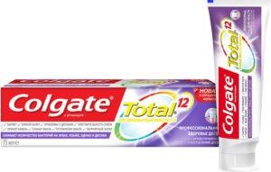 Colgate зубная паста Total 12 Про здоровье десен 75мл