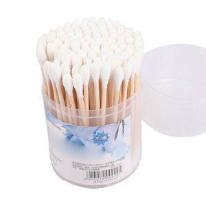 Cotton Swabs Ватные палочки Деревянные банка 100шт