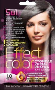 Effect Color Стойкая крем-краска для волос 1.0 Тон Чёрный 50мл