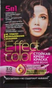 Effect Color Стойкая крем-краска для волос 3.0 Тон Тёмный Каштан 50мл