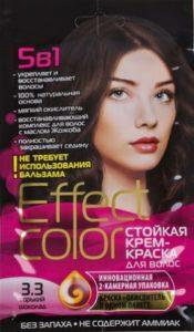 Effect Color Стойкая крем-краска для волос 3.3 Горький Шоколад 50мл
