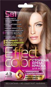 Effect Color Стойкая крем-краска для волос 4.3 Шоколад 50мл