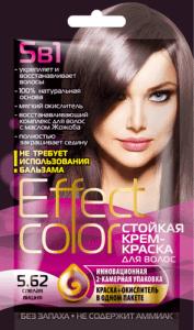 Effect Color Стойкая крем-краска для волос 5.62 Спелая Вишня 50мл