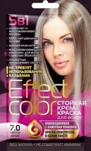 Effect Color Стойкая крем-краска для волос 7.0 Светло-русые 50мл