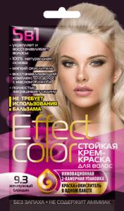Effect Color Стойкая крем-краска для волос 9.3 Жемчужный Блондин 50мл