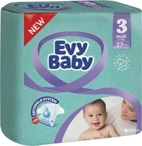 Evy Baby Подгузники Midi Jumbo 5-9кг №3 68шт
