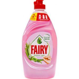 FAIRY Средство для мытья посуды Нежные руки Розовый жасмин и алоэ вера 450мл