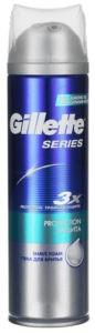 Gillette Пена для бритья Protection (Защита) c миндальным маслом 250мл