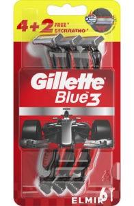 Gillette Blue 3 Red Бритва одноразовая 4шт + 2шт