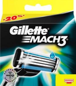 Gillette Mach3 Сменные кассеты для бритья 8шт (штучно)
